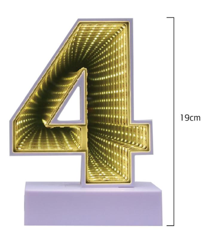 Número 4 Decorativo em Led
