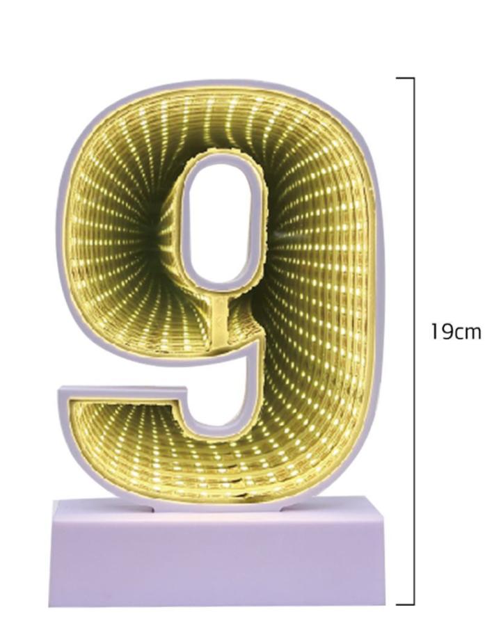 Número 9 Decorativo em Led