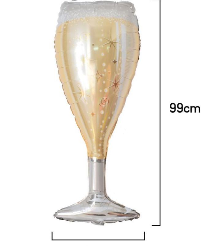 Balão Alumínio Taça de Bebida