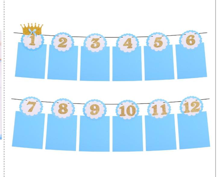 Grinalda para Mêsversário Azul