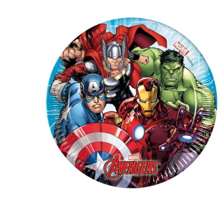 8 Pratos Avengers 19.5cm