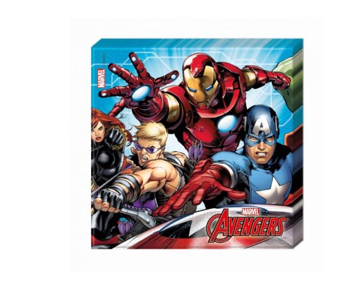 20 Guardanapos Avengers 33cm x 33cm