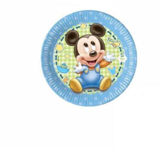 8 Pratos Mickey Baby 19.5cm