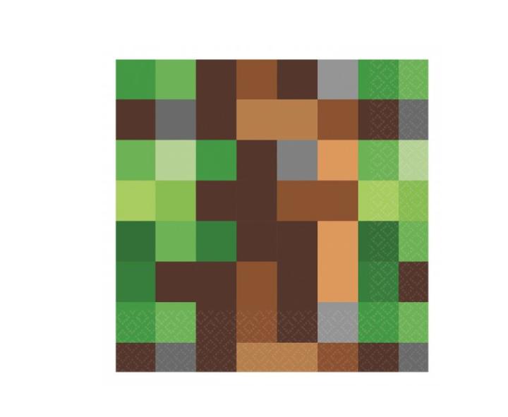 16 Guardanapos Minecraft 32cm x 32cm