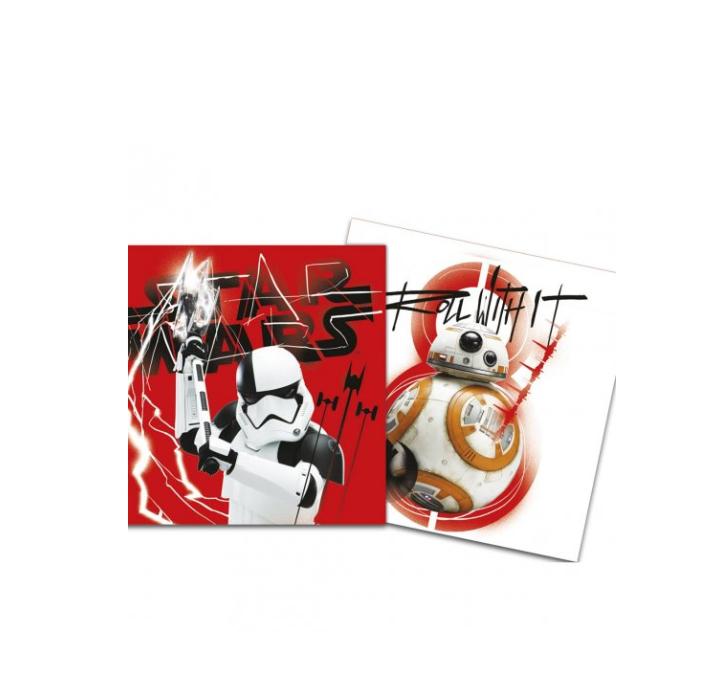 20 Guardanapos Star Wars 33cm x 33cm