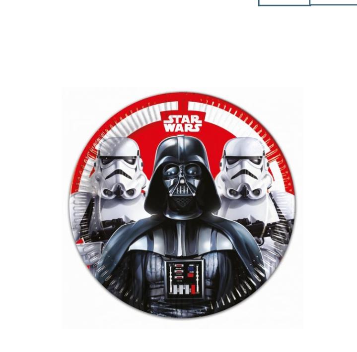 8 Pratos Star Wars 23cm