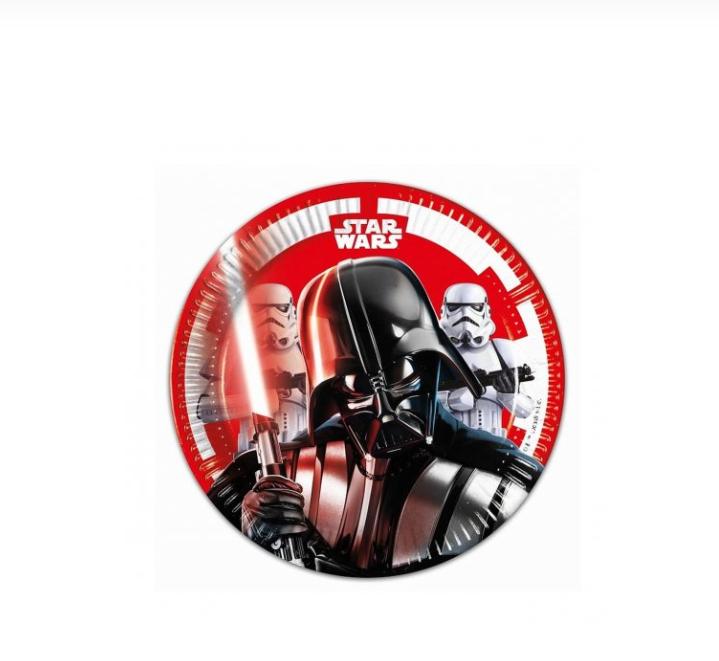 8 Pratos Star Wars 19.5cm