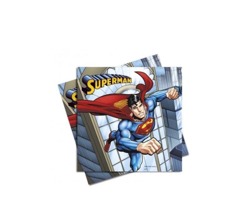 20 Guardanapos Super Man 33cm x 33cm
