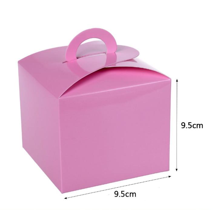 Caixa Box Rosa para Doces 6 unidades
