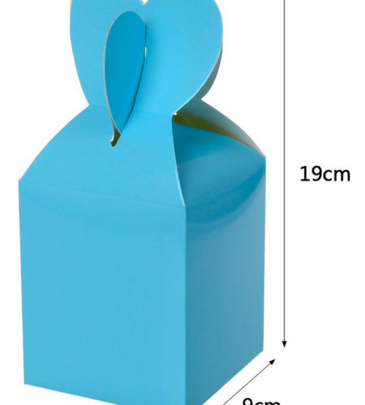 Caixa Box Azul para Doces 6 unidades