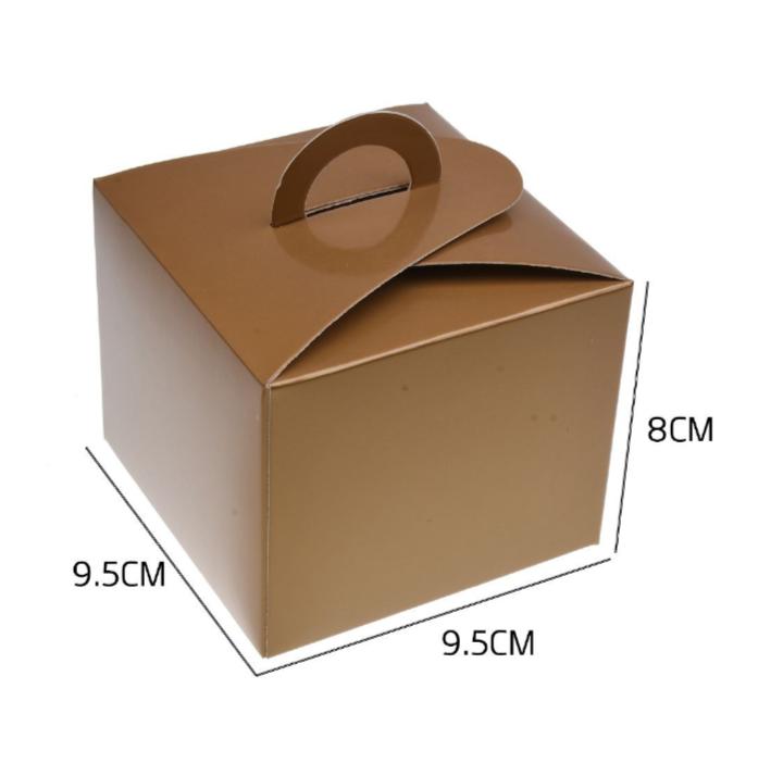 Caixa Box Dourada para Doces 6 unidades