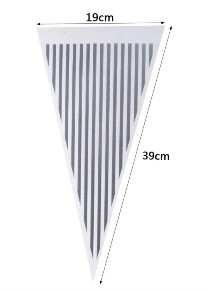 12 Sacos Triangular Prata de Listas