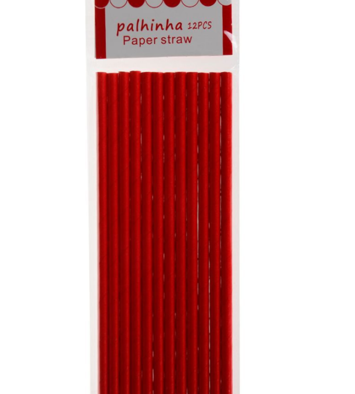Palhinha Vermelha 12 unidades