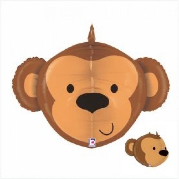 Balão Shape Multi-Sided Macaco 69cm